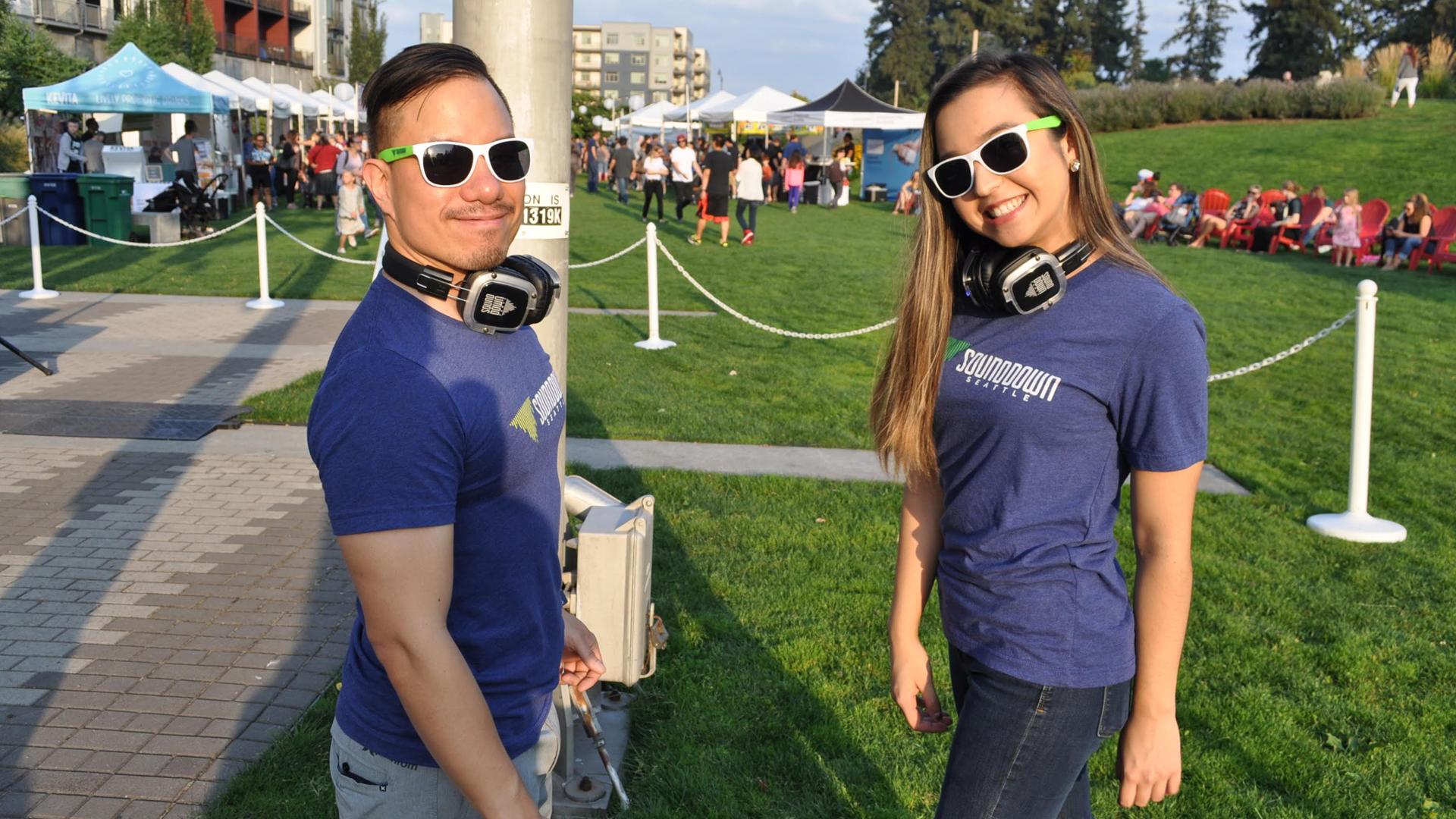 sounddown seattle silent disco event staff